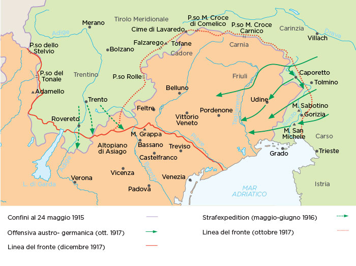 Il fronte italo-austriaco durante la Grande Guerra