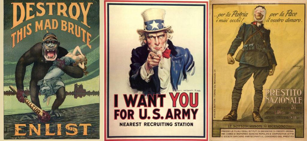 Manifesti propagandistici della Prima Guerra Mondiale