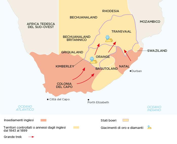 Lo scenario della Guerra anglo-boera - 1889-1902
