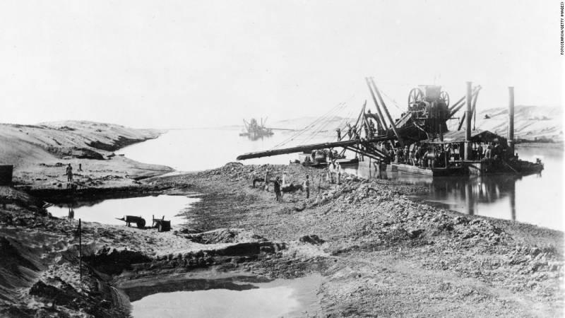 I lavori per la realizzazione del Canale di Suez - 1860