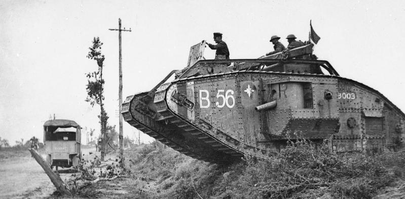 Un carro armato britannico Mark V