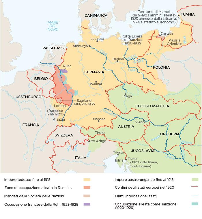 L'Europa centrale dopo i trattati di pace