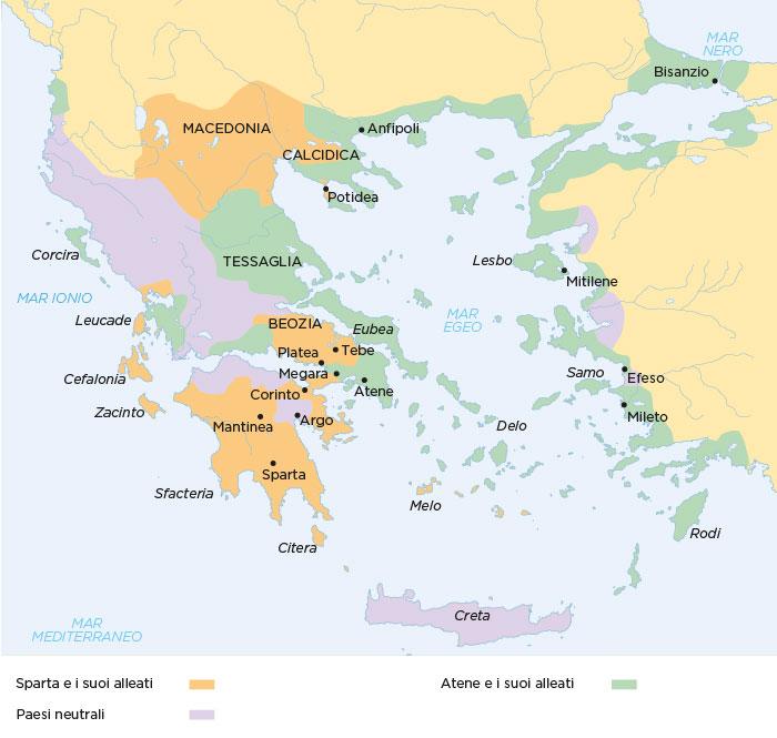 La Simmachia peloponnesiaca e la Lega di Delo alla vigilia della guerra del Peloponneso