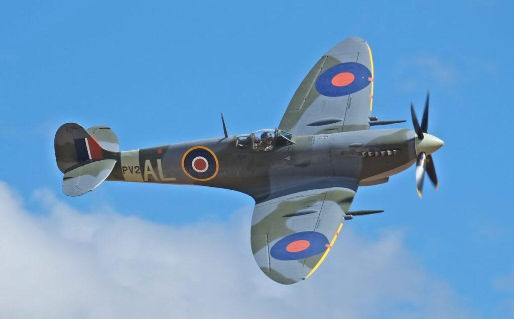 Il caccia inglese Spitfire, simbolo della Battaglia d'Inghilterra