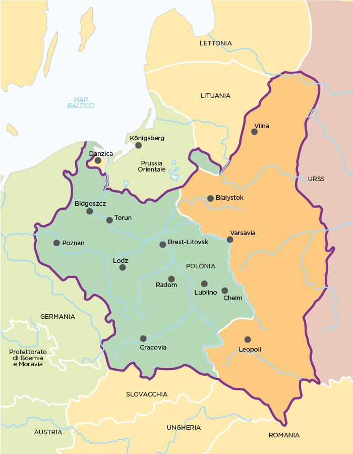 La spartizione della Polonia tra Germania e URSS
