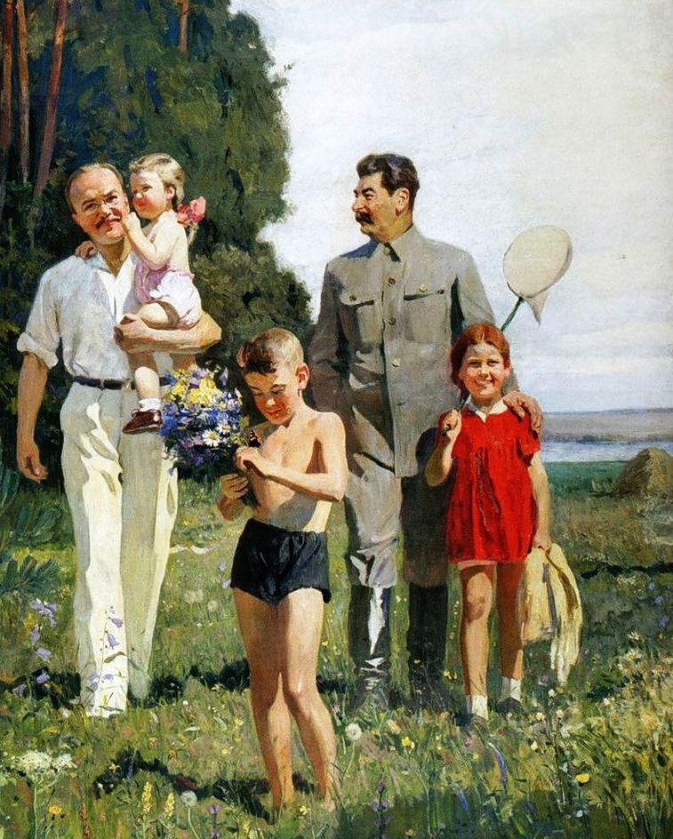 Stalin con i bambini